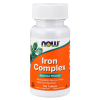 Iron Complex - Żelazo (100 tabl.) NOW Foods