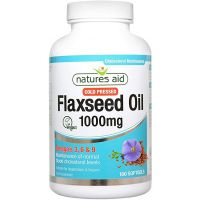 Flaxseed Oil 1000 mg - Olej lniany (180 kaps.) Natures Aid