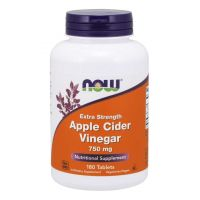 Apple Cider Vinegar - Ocet Jabłkowy 750 mg (180 tabl.) NOW Foods