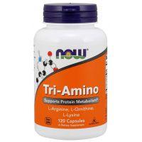 Tri-Amino - L-Arginina + L-Ornityna + L-Lizyna (120 kaps.) NOW Foods