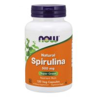 Spirulina 500 mg (120 kaps.) NOW Foods