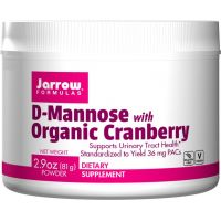 D-Mannose with Organic Cranberry - D-mannoza z Żurawiną (81 g) Jarrow Formulas