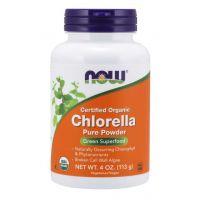BIO Chlorella - rozłupane ściany komórek (113 g) NOW Foods