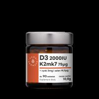 Witamina D3 + K2 MK7 + Cynk + Selen (90 tabl.) Aura Herbals