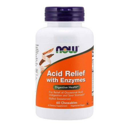 Acid Relief with Enzymes (60 tabl.) NOW Foods