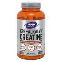 Kre-Alkalyn® Creatine - Buforowany Monohydrat Kreatyny 750 mg (240 kaps.) NOW Foods