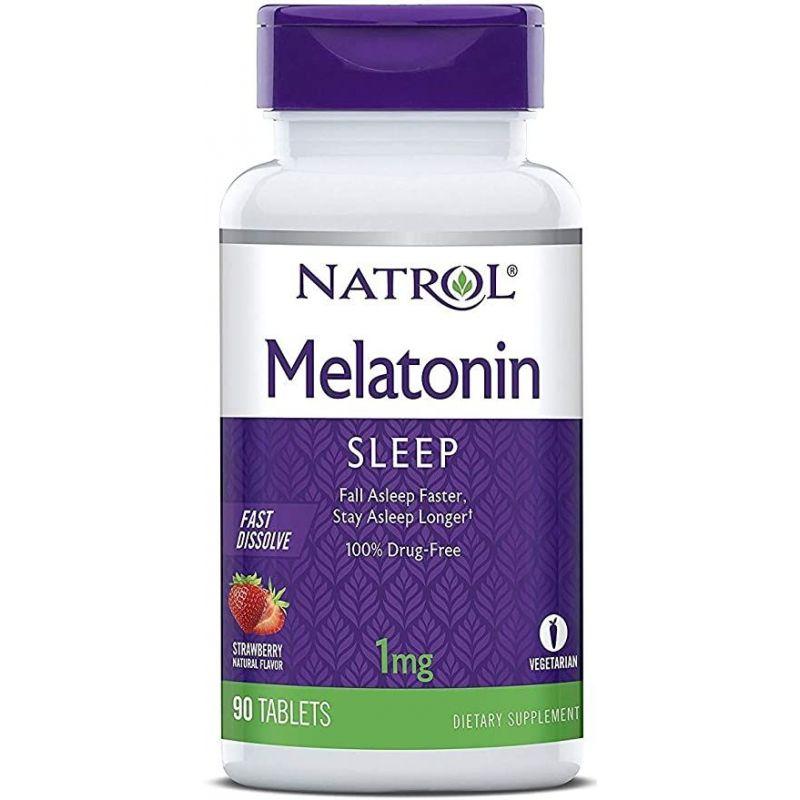 Melatonina 1 mg o smaku truskawkowym (90 tabl.) Natrol