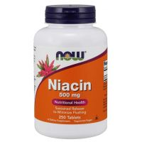 Witamina B3 - Niacyna (Niacin) 500 mg (250 tabl.) NOW Foods