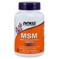 Siarka MSM - Metylosulfonylometan 1000 mg (120 kaps.) NOW Foods