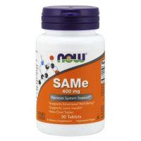SAMe - S-Adenozylo L-Metionina 400 mg (30 tabl.) NOW Foods