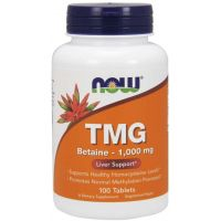 TMG Trimetyloglicyna - Betaina Bezwodna 1000 mg (100 tabl.) NOW Foods