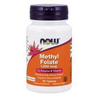 Folian 5-MTHF - aktywny Kwas Foliowy Quatrefolic 1000 mcg (90 tabl.) NOW Foods