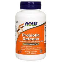 Probiotic Defense - 13 szczepów bakterii (90 kaps.) NOW Foods