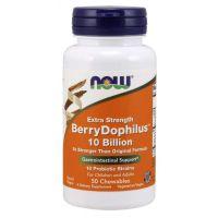 Probiotyk BerryDophilus 10 miliardów CFU (50 tabl.) NOW Foods