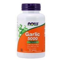 Garlic 5000 - Czosnek 500 mg (90 tabl.) NOW Foods