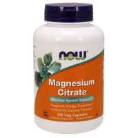 Magnesium Citrate - Cytrynian Magnezu (120 kaps.) NOW Foods