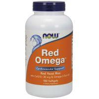 Red Omega - Czerwony Ryż Drożdżowy + Omega 3 + Koenzym Q10 (180 kaps.) NOW Foods