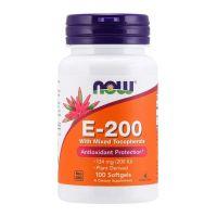 Witamina E 200 IU z mieszanką tokoferoli (100 kaps.) NOW Foods