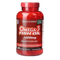 Omega 3 Fish Oil 1000 mg - DHA 120 mg + EPA 180 mg (250 kaps.) Holland & Barrett
