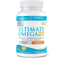 Ultimate Omega 2X with Vitamin D3 - Omega 3 + Witamina D3 o smaku cytrynowym (60 kaps.) Nordic Naturals