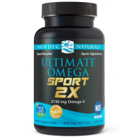 Ultimate Omega Sport 2X - Omega 3 o smaku cytrynowym (60 kaps.) Nordic Naturals