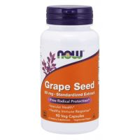 Grape Seed - Ekstrakt z Pestek Winogron 60 mg (90 kaps.) NOW Foods