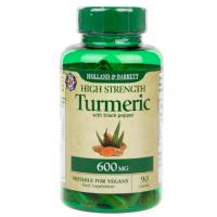 Turmeric - Kurkuma 600 mg + Czarny Pieprz 5 mg (90 kaps.) Holland & Barrett
