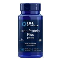 Iron Protein Plus - Żelazo (Bursztynian Białkowy) IronAid (100 kaps.) Life Extension