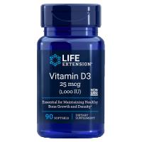 Witamina D3 1000 IU /cholekalcyferol/ 25 mcg (90 kaps.) Life Extension