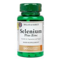 Selenium plus Zinc - Selen + Cynk + Witamina C + Witamina E + Witamina A + Witamina B6 (90 tabl.) Holland & Barrett