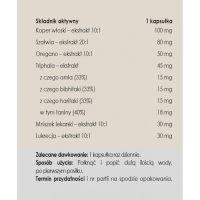 Spokojny brzuch - Koper włoski + Szałwia + Triphala + Mniszek Lekarski (50 kaps.) Panaseus
