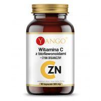 Witamina C 440 mg z bioflawonoidami + Cynk organiczny 15 mg (90 kaps.) Yango