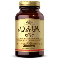 Calcium Magnesium plus Zinc - Wapń, Magnez i Cynk (100 tabl.) Solgar