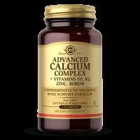 Advanced Calcium Complex - Wzmocnienie układu kostnego + D3 + K2 + Cynk + Bor (120 tabl.) Solgar