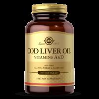 Cod Liver Oil - Tran dorszowy + Witaminy A i D (100 kaps.) Solgar