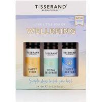 The Little Box of Wellbeing - Zestaw olejków eterycznych dla poprawy nastroju (3x10 ml) Tisserand