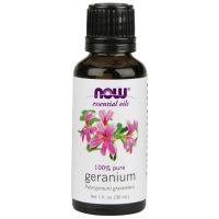 100% Olejek Geraniowy (Geranium) - Pelargonia (30 ml) Now Foods