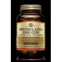 Bromelaina 1000 GDU 150 mg - ze świeżych Ananasów (60 kaps.) Solgar
