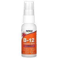 B-12 Liposomal Spray - Liposomalna witamina B12 + Witamina B6 + Kwas foliowy + TMG (59 ml) Now Foods
