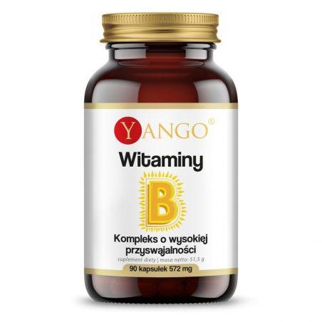Witaminy B - Kompleks witamin z grupy B (90 kaps.) Yango