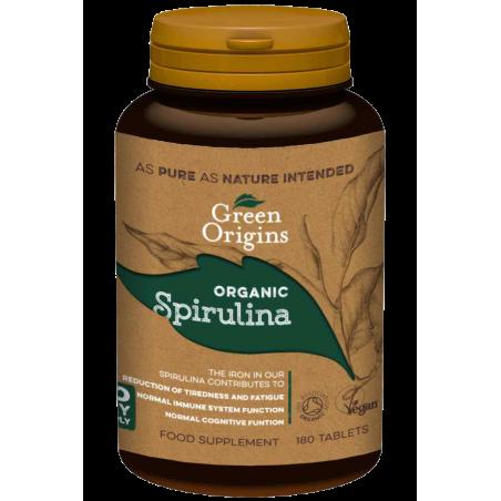 Organic Spirulina - Organiczna Spirulina (180 tabl.) Green Origins