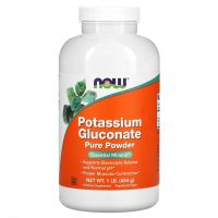 Potassium Gluconate Powder - Potas w proszku /glukonian potasu/ (454 g) NOW Foods