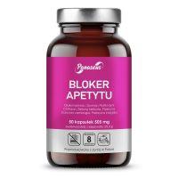 Bloker Apetytu - Glukomannan + Gurmar + Chitosan + Zielona herbata + Piperyna + Garcinia (50 kaps.) Panaseus