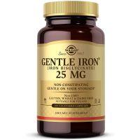 Gentle Iron - Żelazo /dwuglicynian żelaza/ 25 mg (180 kaps.) Solgar