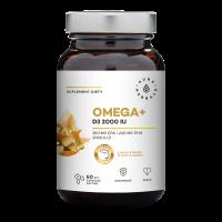 Omega-3 + Witamina D3 2000 IU (60 kaps.) Aura Herbals