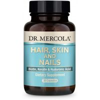 Hair, Skin and Nails - Biotyna, Keratyna & Kwas Hialuronowy (30 kaps.) Dr Mercola
