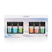 """Pakiet olejków eterycznych """"Frosty Woodland"""" w świątecznym opakowaniu (6 x 9 ml) Tisserand"""