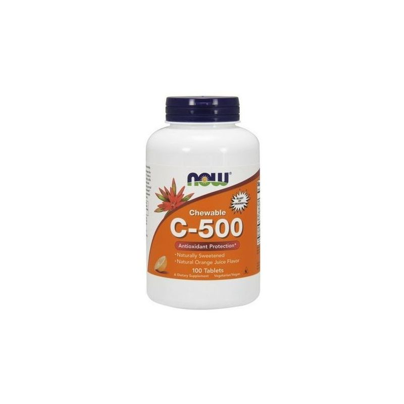 Witamina C-500 do ssania (100 tabl.) Now Foods