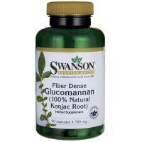 Fiber Dense Glucomannan (Glukomannan) 700 mg - Konjac Root (90 kaps.) Swanson