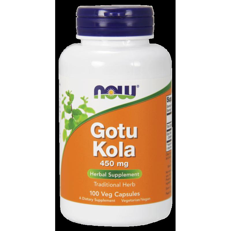 Gotu Kola 450 mg (100 kaps.) Now Foods